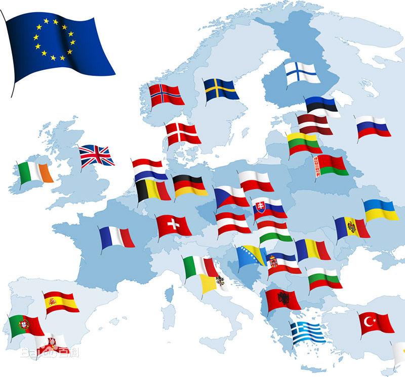 欧盟国家的地理分布