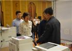 监管峰会期间,IT展台吸引了大量参会嘉宾前来观展。