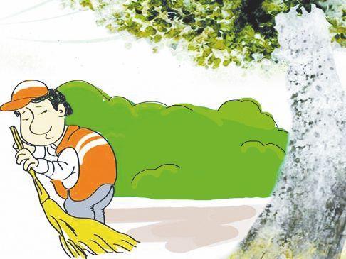 环卫工人图片卡通图片