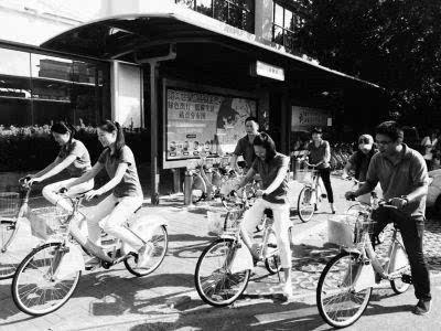 海口办公区投放公共自行车配合公车改革