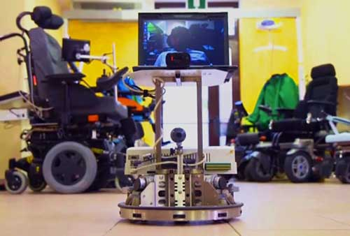 可以用脑电波来控制的替身机器人