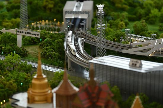 中泰铁路沙盘模型
