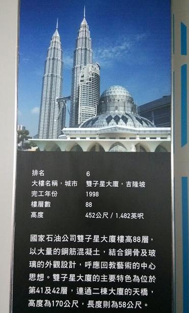 全球排名前十名最高摩天大楼:吉隆坡双子星大厦