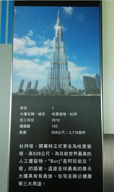 全球排名前十名最高摩天大楼:杜拜哈里发塔