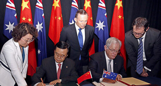 中韩中澳自贸区已实施二次降税