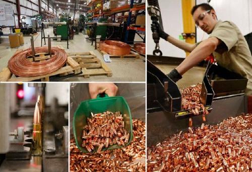 本组图记录了美国雷明顿弹药工厂生产步枪子弹的全过程,可以看到很多难得一见的工艺。