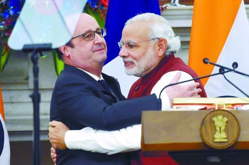 """印度法国就印购买36架法""""阵风""""战斗机达成协议"""