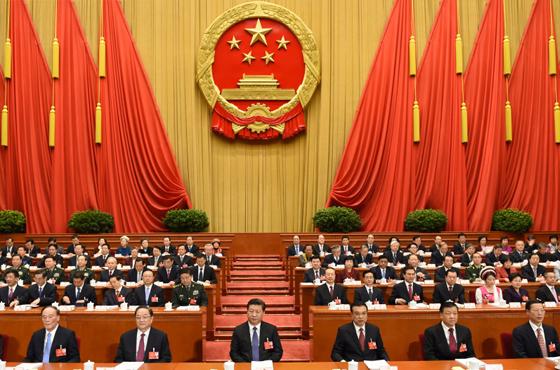 3月5日,第十二届全国人民代表大会第四次会议在北京人民大会堂开幕。党和国家领导人习近平、李克强、俞正声、刘云山、王岐山、张高丽等出席会议。新华社记者 李学仁 摄