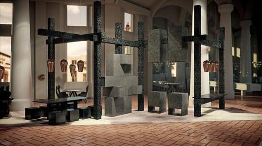 英国设计师Tom Dixon联合石英供应商推出的餐厅。由不同元素启发做成的概念厨房,除了四个部分的概念厨房,还有一个部分是专门的家具和照明展示。