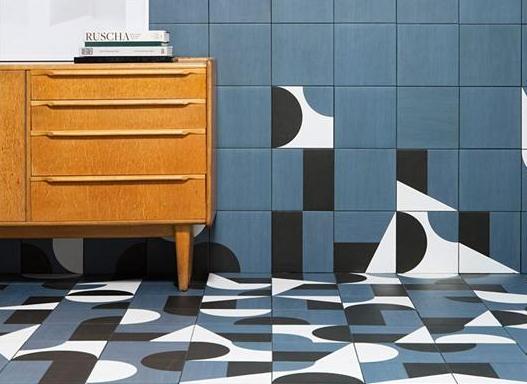 意大利陶瓷公司Mutina即将推出的新产品:几何陶瓷拼图。