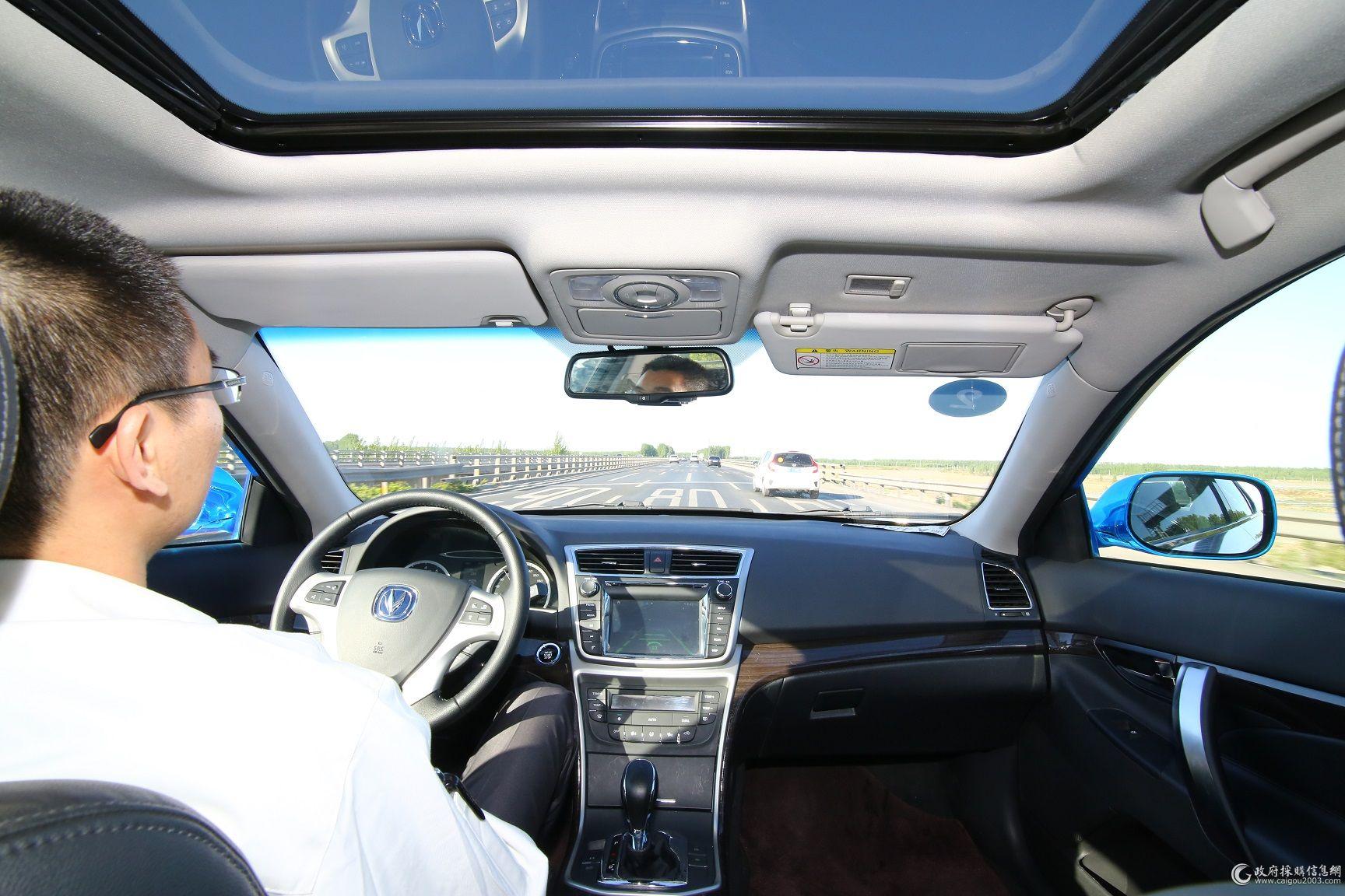 长安无人驾驶汽车-无人驾驶测试成功 为长安勇于创新点赞高清图片
