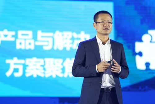 华为企业BG中国区总裁蔡英华发表主题演讲
