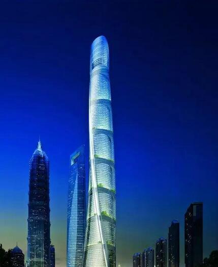 上海中心大厦:632米,三菱、迅达电梯