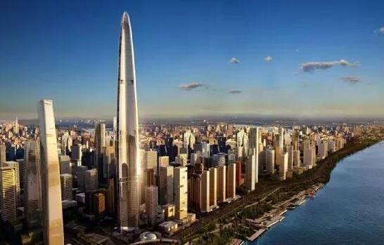 武汉绿地中心,636米,三菱、迅达、通力
