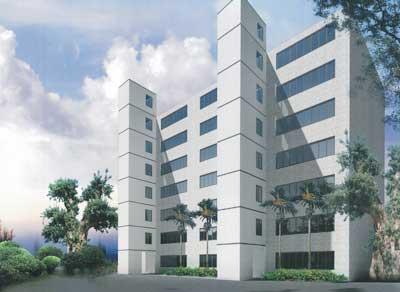 电梯占用的面积对早期建造完工的旧楼房提出了较高
