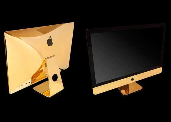6. 金色版27英寸iMac 5K(1.44万美元)    苹果的电脑产品其实已经不便宜了,不过GoldGenie还为该公司27英寸的iMac 5K手工制造了一个24克拉金外壳版本,定价1.44万美元(约合9.45万人民币)。
