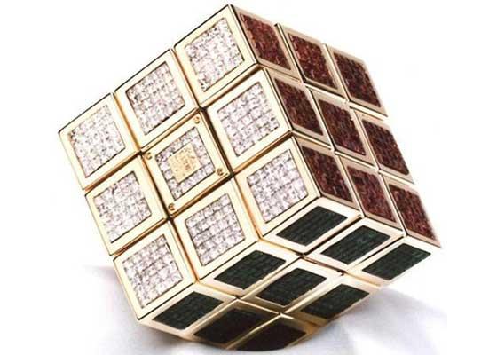 18. 全球最贵的魔术方块(250万美元)    这款魔术方块(Rubik