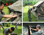 叠窗布,门布,调整帐篷方向。