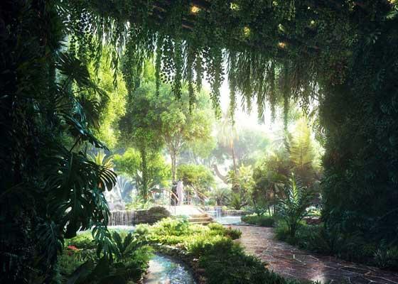 迪拜再添奇景:世界首家人工热带雨林酒店