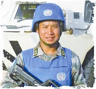 陆军第20集团军某团战士,四级军士长,3次获联合国和平荣誉勋章。张 旭摄