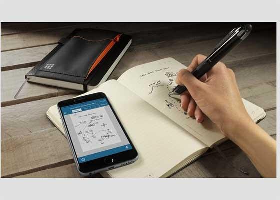 Livescribe 3智能笔    只要使用Livescribe 3智能笔和智能手机上的相应应用上过一节课,你可能永远不再喜欢普通钢笔。当你用它在特制笔记本上书写时,智能笔可将手写笔记的数字版本通过蓝牙发送到手机上,你可以在任何时间浏览。它还可以通过智能手机上的Livescribe应用记录音频笔记,并与手写体笔记联系起来。在随后查看笔记时,可以仔细研读教授当时说过的每个字。如果你当时留下涂鸦、缩写或记忆装置,点击任何词都会让你重新回到课堂。这种智能笔充电一次可使用14小时。