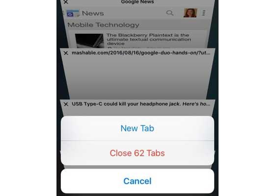 同时关闭Safari所有的标签    鉴于你现在可以同时打开无限量的Safari标签,有时候你可能会发现自己打开的标签太多了。以前,该浏览器要求你逐个关闭标签,而现在你可以同时将其关闭。按下Safari右下角的标签按钮(图标看起来像两个盒子),你就可以同时关闭掉它们。