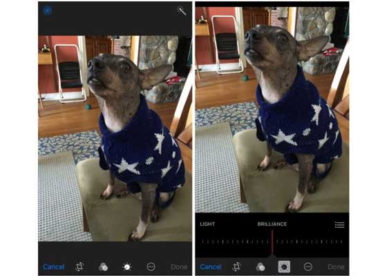 编辑动态照片    iOS 10中最大的照片改进之一是,含有新的编辑工具,其中包括亮光滑块。而且,这些新编辑工具也适用于动态照片(Live Photos),你可以像编辑任何其它照片那样编辑动态照片。只不过,你不能在动态照片内出现的框架,但你可以将它们去掉,加入滤镜,以及调整光亮度。