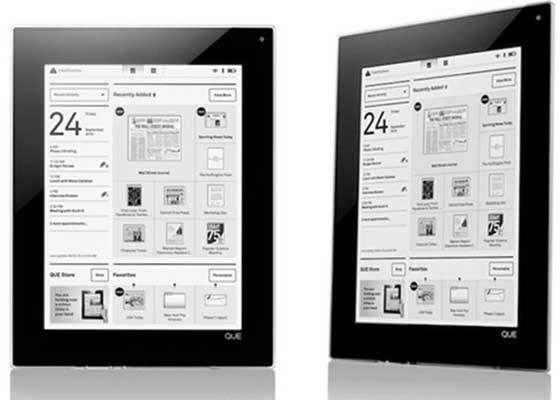 Plastic Logic公司旗下的QUE电子阅读器(2010)    QUE电子阅读器本来被市场寄予了厚望,所有人都相信它将成为下一个点燃整个市场的变革性产品,它问题是它的发布日前被一而再再而三地推迟了…以致于它最终等来了iPad的登场。可怜的QUE电子阅读器最后甚至连同iPad交手的机会都没有,期待它的用户没能等到产品发布,这一项目就被公司终止了。