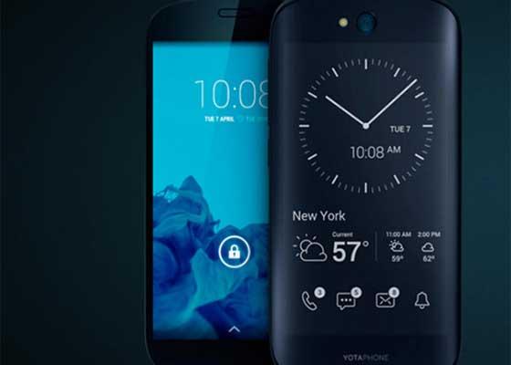 YotaPhone 2    这是一款拥有两款显示屏的智能手机。正面看过去,它是一部手机,反过来看,嗯..它是一款电子阅读器?比较惨的是,YotaPhone 2没能像它原先所设想的那样被出售到美国,于是这家俄罗斯的手机制造商只好退还了美国用户的预定费。