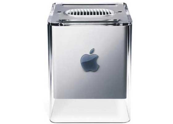 苹果G4 Cube(2001)    G4 Cube是苹果少有的败笔。虽然,它时髦的工业设计非常得亮眼,但它本身的设计问题和高昂的售价都导致它被市场证明是一件失败之作。在发布的一年之后,苹果就草草地终止了这个项目。