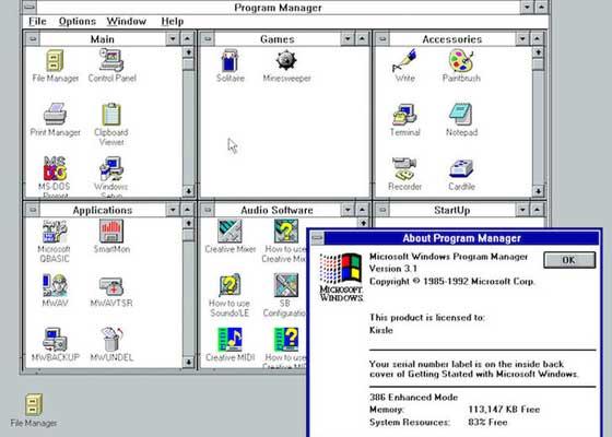 """Windows 3.1 PC 你还记得微软的Windows系统在90年代时候的样子吗?在巴黎奥利机场忙碌着的员工们肯定还记得,因为直到2015年的时候,奥利机场的一些员工还在被强迫着使用微软在1991年发布的Windows 3.1系统。在去年的系统崩溃事件发生过后,法国当局就承诺要更换掉奥利机场的那些""""古董电脑"""",因为它们承担着将航空交管系统,同法国主管气象局连接到一起的重要工作。"""