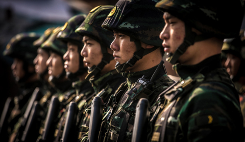 武警大连边防支队开展海上反恐处突演练