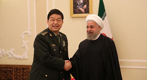 伊朗总统鲁哈尼会见常万全