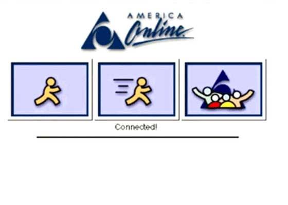 """AOL加载屏幕    创造积极的被动信息艺术、完善策划目标轮廓,这是现在""""Z一代""""的孩子完全无法理解的。"""