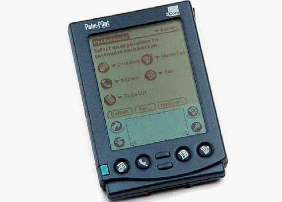 PalmPilots    20世纪90年代末期,Palm发布了个人数字助理PalmPilots。它立刻占领了商务世界,具有储存联系人列表、日程表、待办事项等功能,再也无需携带和使用纸笔。