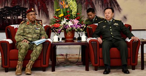 范长龙会见吉布提军队总参谋长