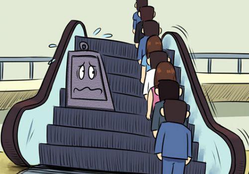 中国讨论废止电梯左行右立 美媒:习惯才刚养成
