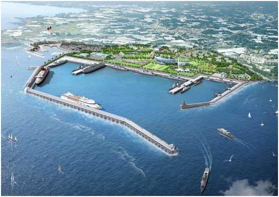 康力电梯中标韩国济州岛江汀港项目