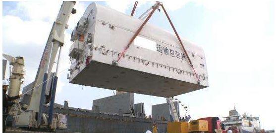 海南文昌:长征七号安全运抵文昌航天发射场