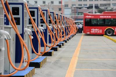 珠三角最大公交充电站建成使用