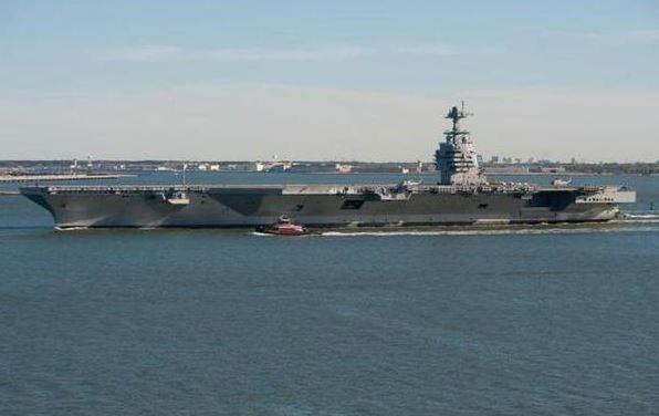 """美国:世界最先进航母""""福特""""号开始海试"""