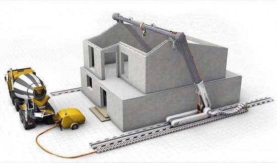 3D打印机器人 14小时建房子