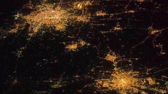 卫星灯光图