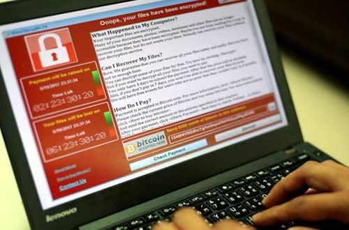 """感染""""魔窟""""勒索病毒后的便携式计算机"""