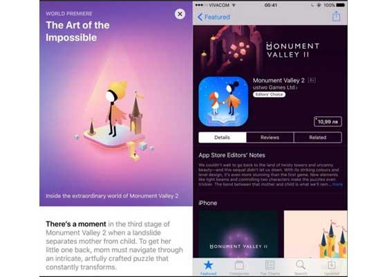 游戏页面 – iOS 11(左)vs iOS 10(右)    这是新旧iOS系统游戏页面的对比。