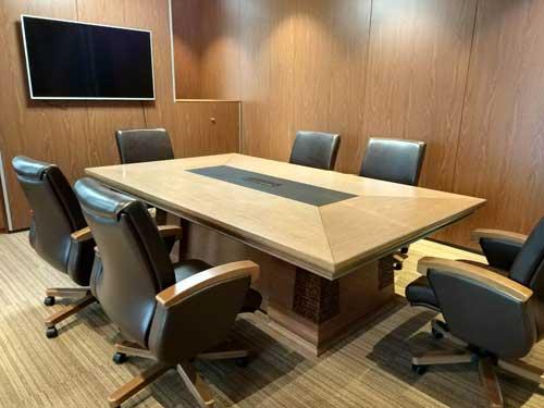 百利北京分公司展厅产品之一会议室家具