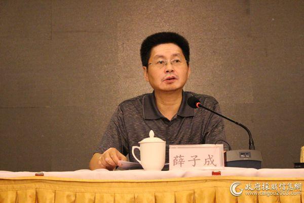 江苏省<a href=http://www.caigou2003.com/ target=_blank class=infotextkey>政府采购</a>中心主任薛子成