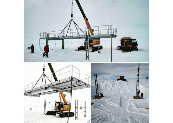 2月份的时候,GAC开始用吊车在南极洲建造农场平台。下个月所有的东西都将到位。