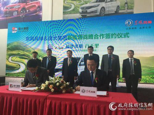 东风风神与庞大集团签署新能源战略合作协议
