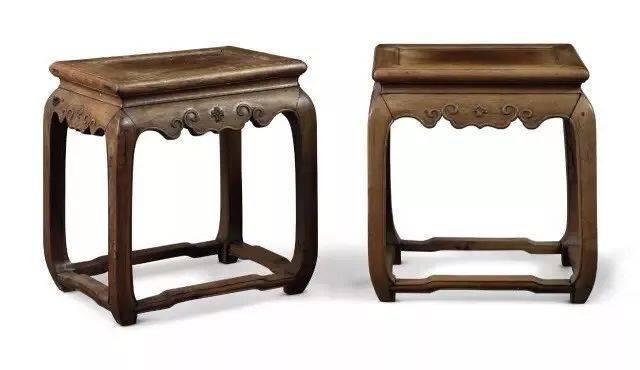 清中期 红木嵌紫檀楠木半桌